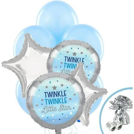 Twinkle Twinkle Little Star Party Decorations (Twinkle Twinkle Little Star Blue Balloon)