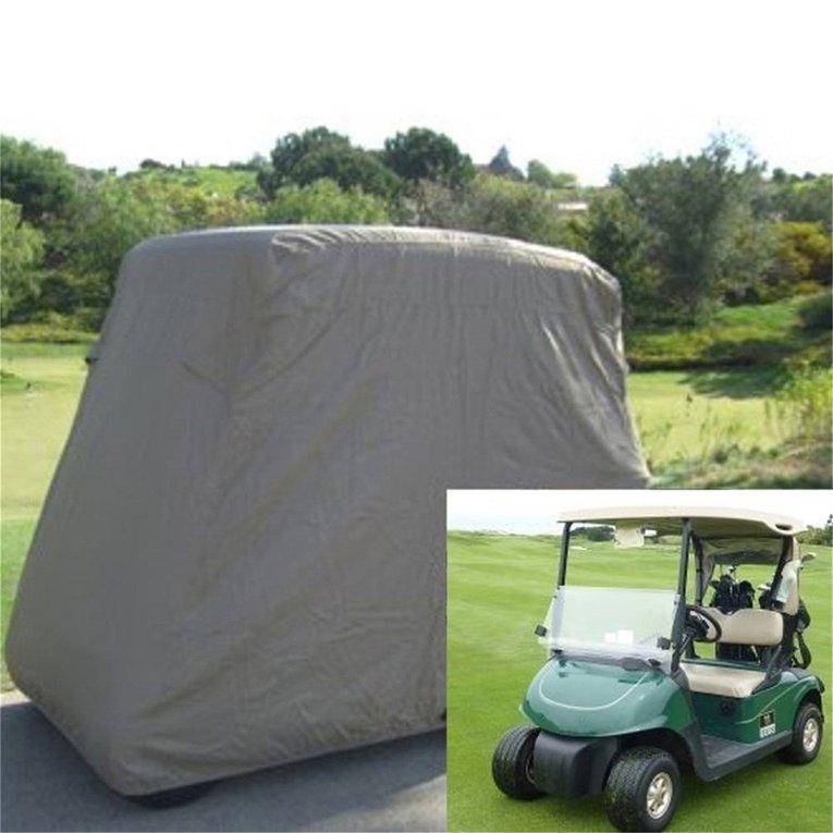 Waterproof 2 Passengers Zipper Golf Cart Protetc Cover For EZ Club Car Khaki