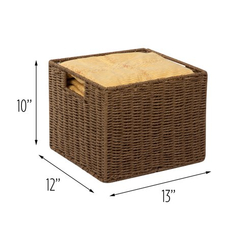 Honey Can Do Paper Rope Storage Basket, Brown