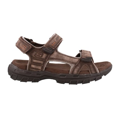 skechers mens leather sandals