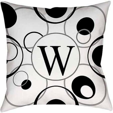 Thumbprintz Circle Variations Monogram Black And White Decorative