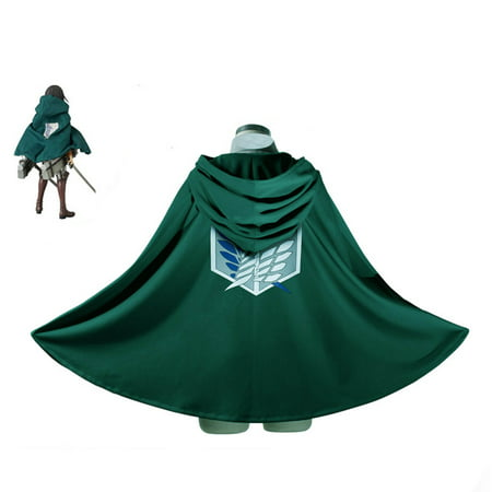 Fashion Anime Attack on Titan Cloak Cape Cosplay Costumes Clothes - Anime Girl Costume Ideas