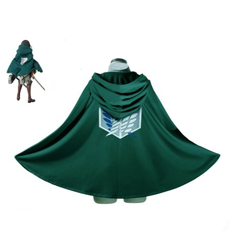 Fashion Anime Attack on Titan Cloak Cape Cosplay Costumes Clothes