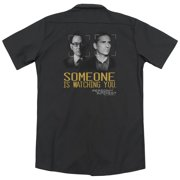Person Of Interest Someone (Back Print) Mens Work Shirt