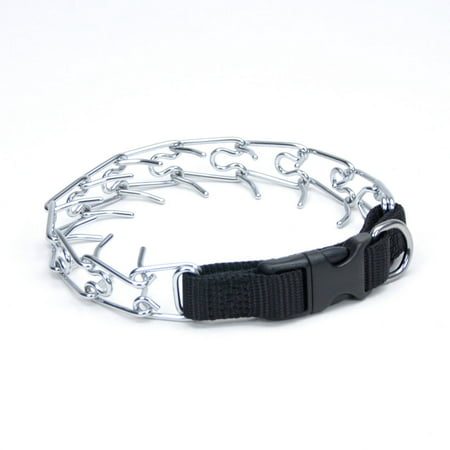 Coastal Pet Products Titan Easy-On Dog Prong Training Collar with Buckle Medium Silver 17.5