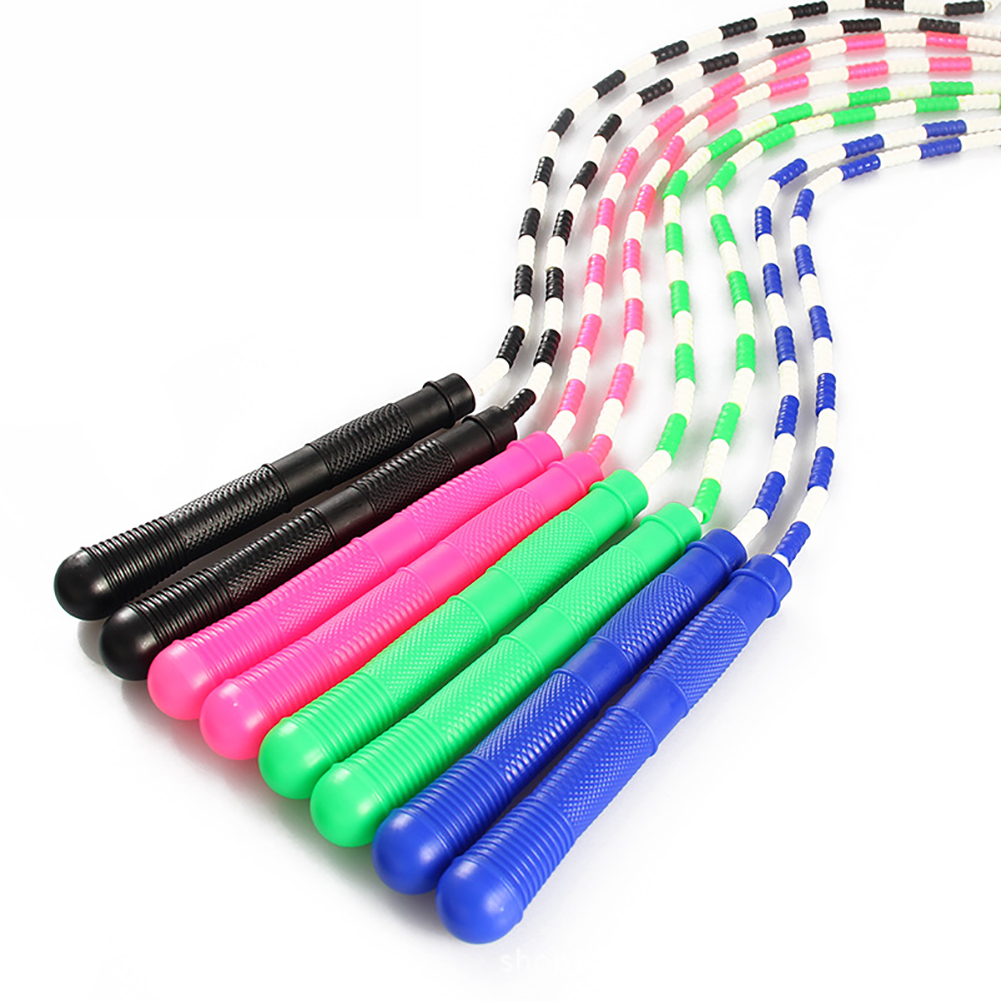 Girl12Queen Bamboo Joint Skipping Rope Adult Jump Rope Adjustable Sports Fitness Equipment