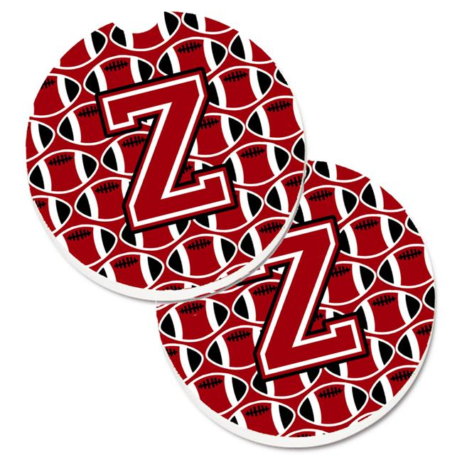 Carolines Treasures Cj1073 Zcarc Letter Z Football Red With Black