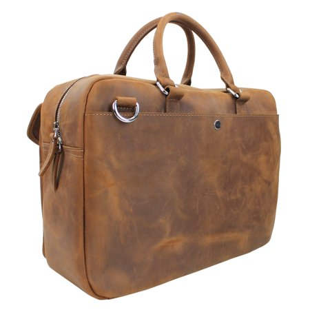 Vagarant Traveler Cowhide Leather Duffle Gym Travel Tote L27.CB - image 4 de 6