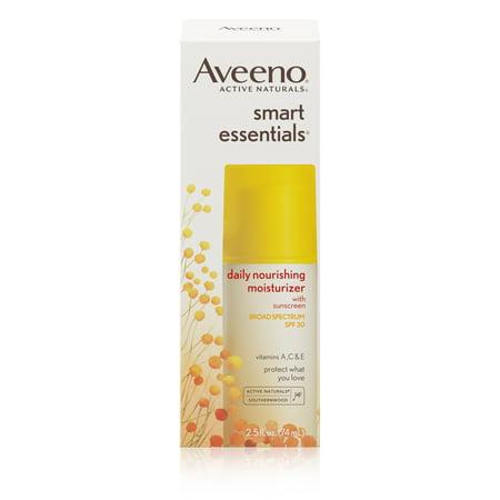 Aveeno Smart Essentials Daily Nourishing Moisturizer Oil Free With Broad Spectrum Spf 30  2 5 Oz