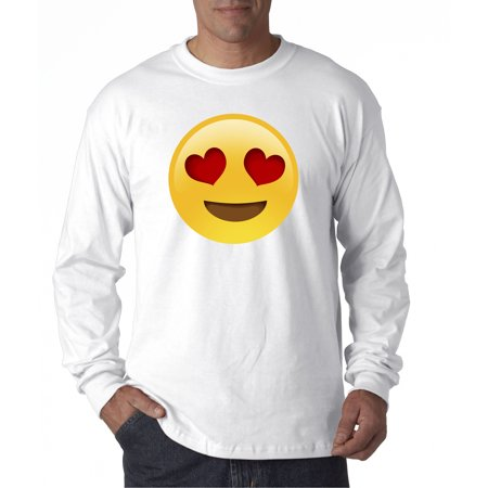 302 - Unisex Long-Sleeve T-Shirt Emoji Heart Eyes Smiley - Empty Heart Emoji