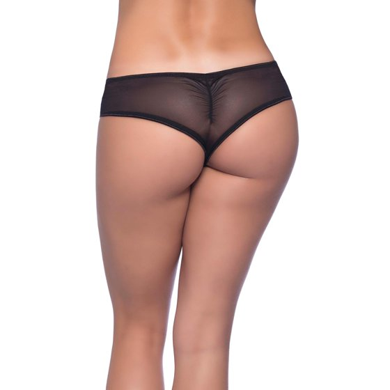bc86c471592 Oh La La Cheri - Womens Plus Size Gathered Mesh Panties- Mesh Side ...