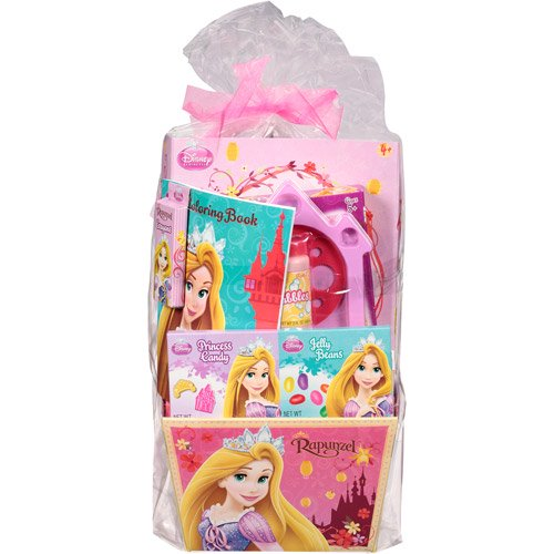 Disney princess rapunzel easter basket with toys candy walmart negle Image collections