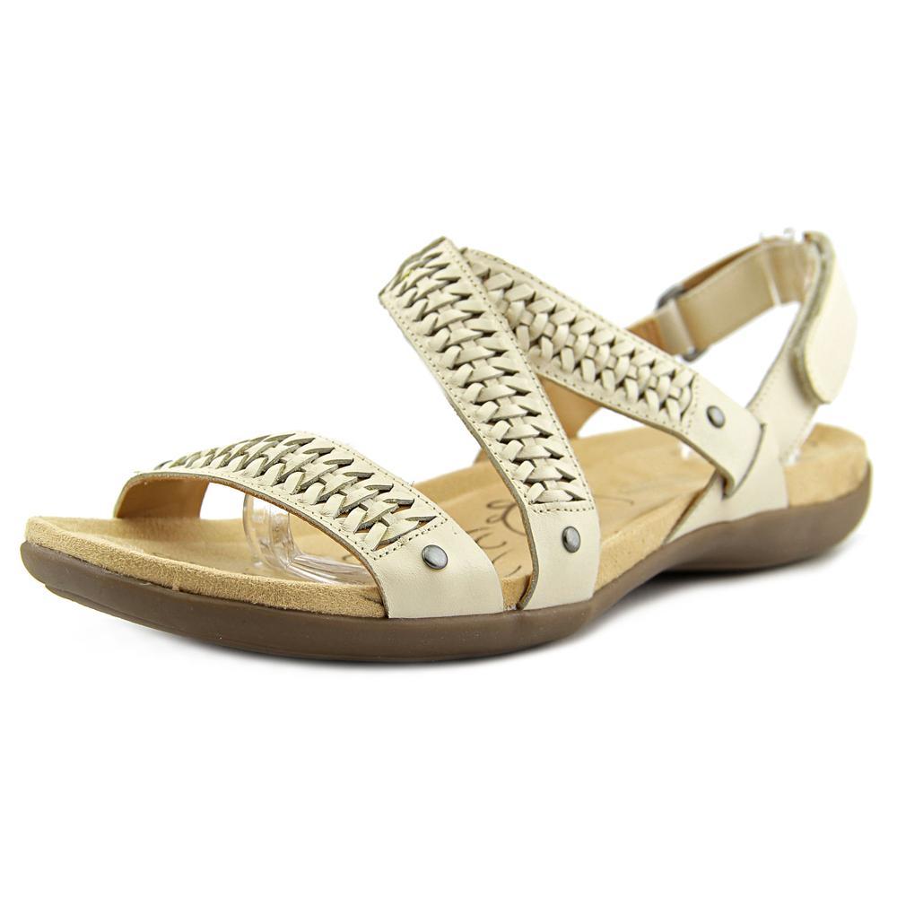 Naturalizer Eliora Women W Open-Toe Leather Ivory Slingback Sandal by Naturalizer