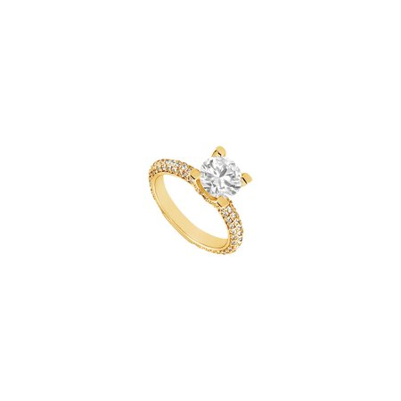 Cubic Zirconia Engagement Ring 14K Yellow Gold 1.50 CT Cubic Zirconia - image 2 of 2