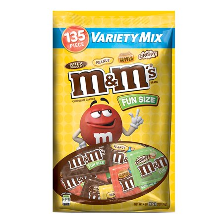 Fun Halloween Food Dishes (M&M'S Chocolate Candies FUN SIZE Variety MIx Candy Bag | Contains 135 Pieces, 72.5 Oz. | M&M'S Milk Chocolate, M&M'S Peanut, M&M'S Crispy, and M&M'S Peanut)