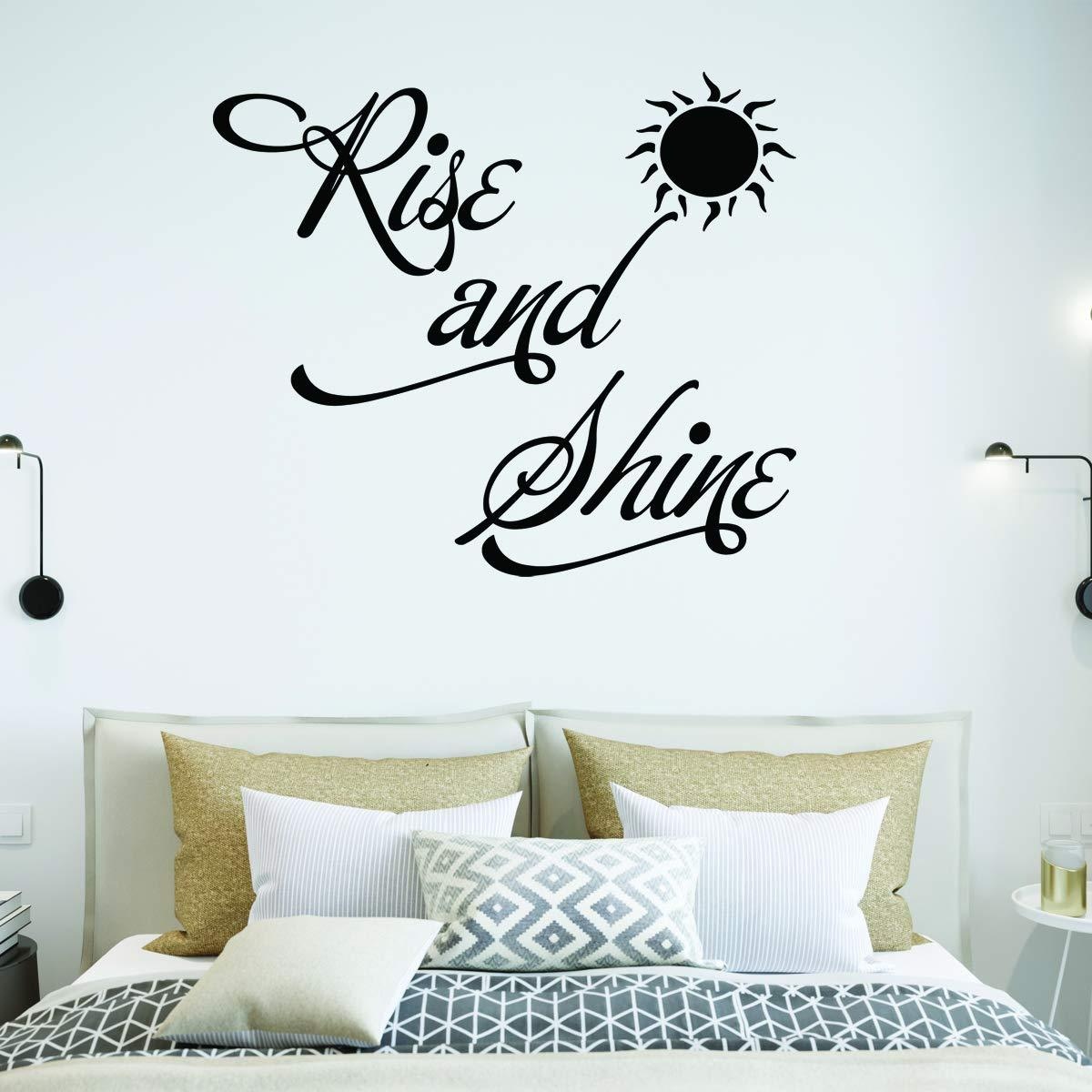 Vwaq Rise And Shine Bedroom Quotes Wall Decal Walmart Com Walmart Com