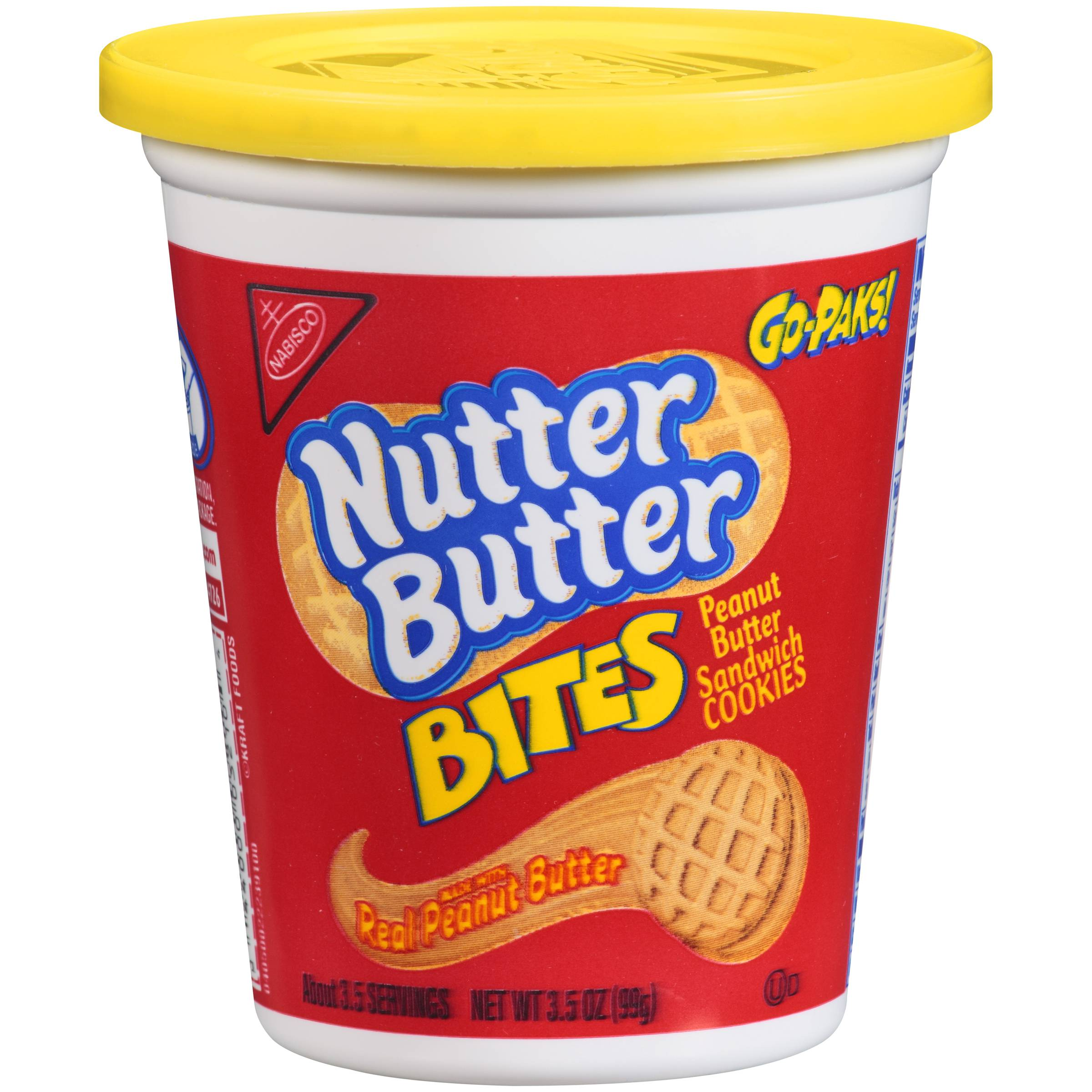 Nabisco Nutter Butter Cookies Go Pak Bites, 3.5 Ounce (12 Pack)