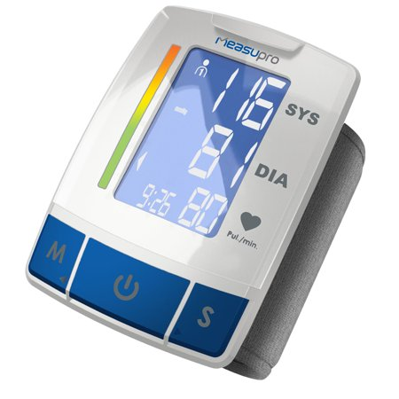Measupro Premium Easy Read Digital Wrist Blood Pressure Monitor Fda Approved