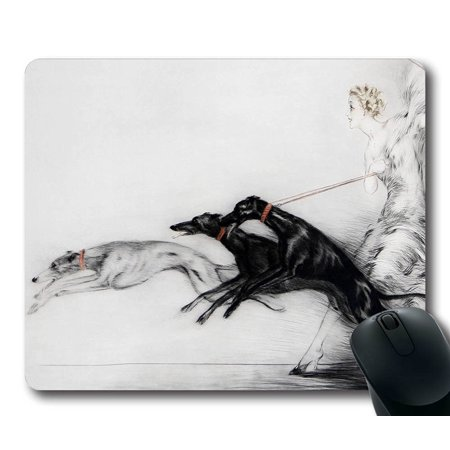 POPCreation Greyhounds Drawing Mouse pads Gaming Mouse Pad 9.84x7.87 inches