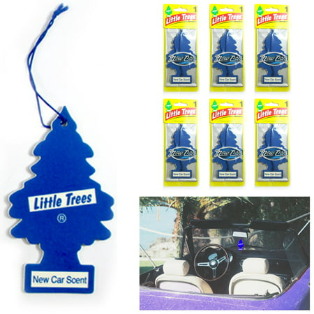 6 Pc New Car Smell Scent Little Trees Air Freshener Home Hanging Office Aroma
