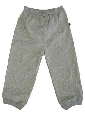 Little Boys Grey Solid Color Adjustable Waist Sweat Pants 2-4T