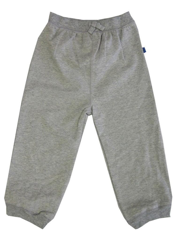 Little Me Little Boys Grey Solid Color Adjustable Waist Sweat Pants 2-4T