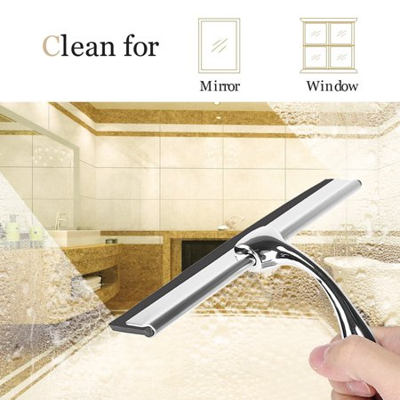 Best Shower Window Squeegee,Stainless Steel Zinc Alloy Car Windshield Glass Mirror Cleaning Tool With ultra-soft rubber,Including the (Best Window Cleaning Equipment)