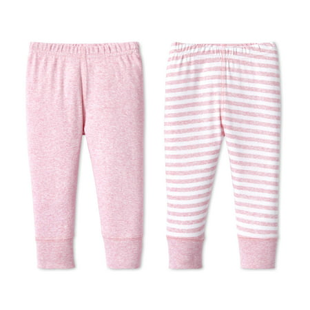 Lamaze Baby Girl Organic Cotton Pants, 2-pack (Best Way To Get A Six Pack For Women)