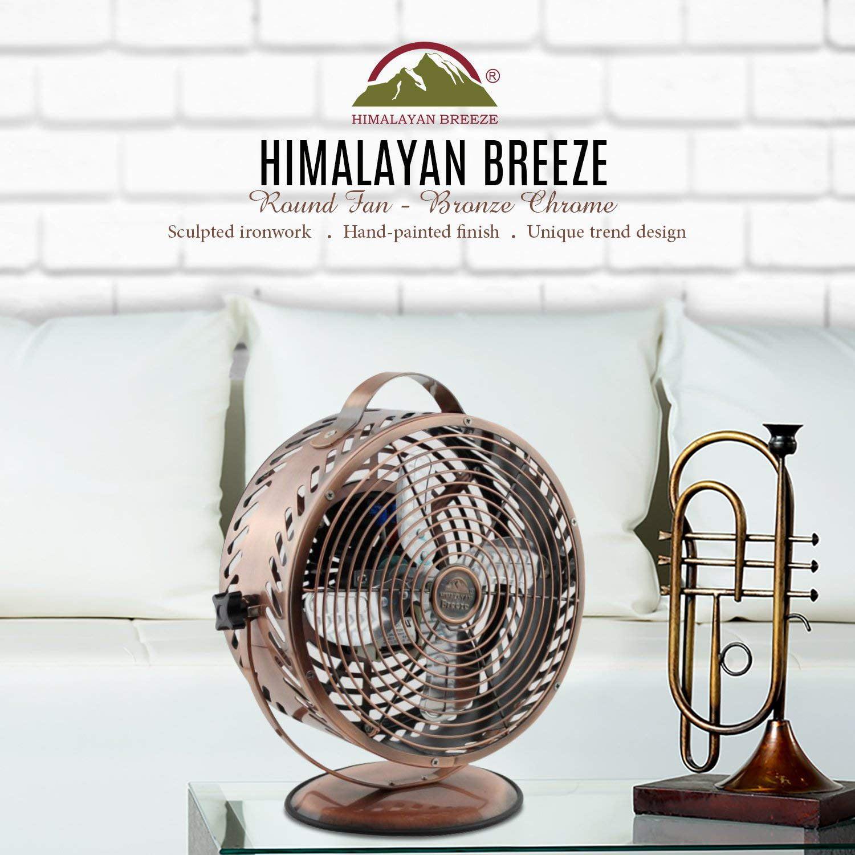 """WBM LLC Himalayan Breeze 9"""" Gunmetal Grey Table Fan"""