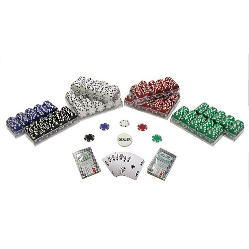 Trademark Poker 1000 Striped Dice 11.5 Gram Poker Chips Texas Hold'Em Set by TRADEMARK GAMES INC