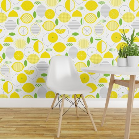 Removable Water Activated Wallpaper Mod Lemonade Summer Lemon Citrus L