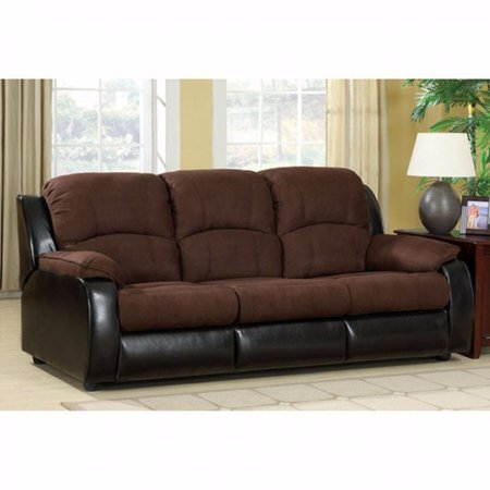 Microfiber Three Seater Sofa/Queen Size Sleeper, Brown