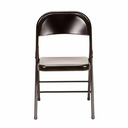 Mainstays Steel Folding Chair, Set of 4, Multiple Colors