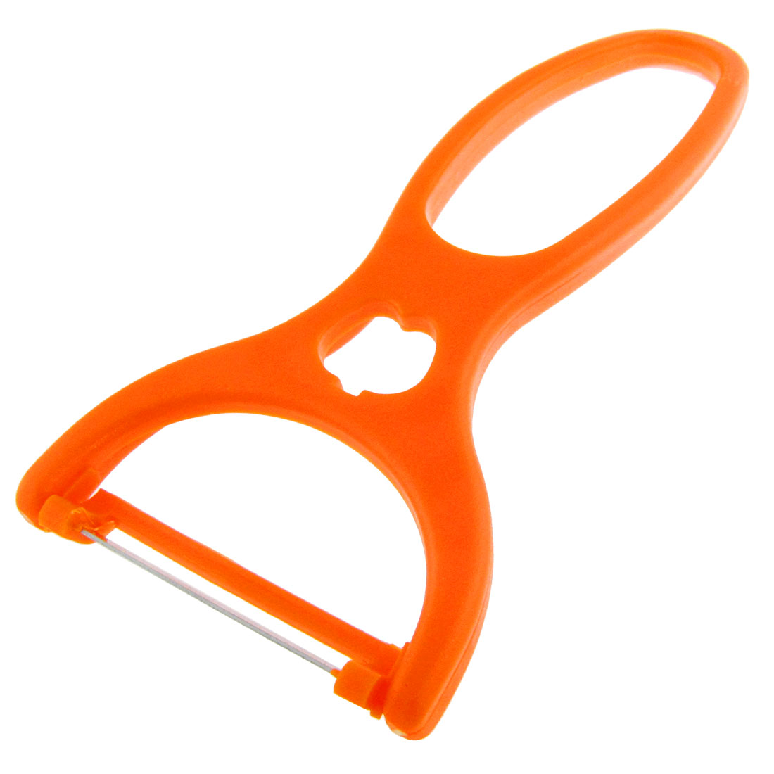 Orange Handle Stainless Steel Blade Fruit Vegetable Peeler Parer
