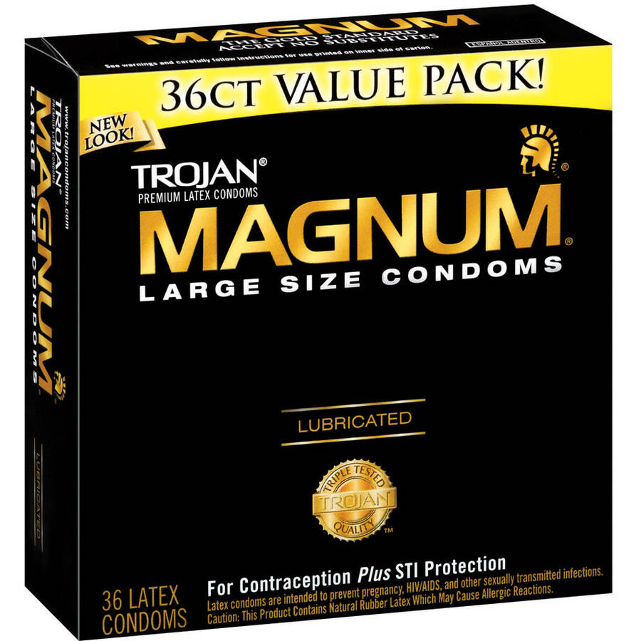 Trojan Magnum: Large Size Lubricated Condoms, 36 ct