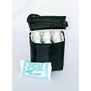 JL Childress 6 Bottle Cooler, Black 2-Pack
