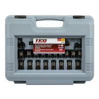 Deals on TEQ Correct 48 Piece Black Chrome Socket Set TQ846