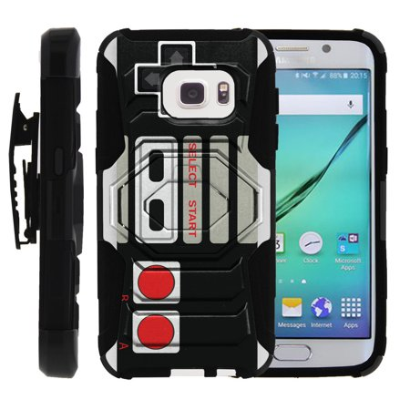 watch 8735a 680bf Samsung Galaxy S7 Case | S7 Phone Case [SM-G930] [ Armor Reloaded ] Rugged  Cell Phone Case with Kickstand + Belt Clip - Game Controller Retro