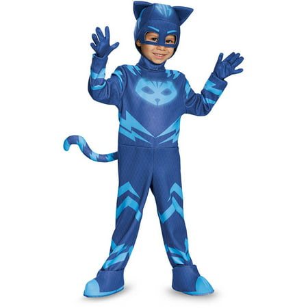 PJ Masks Catboy Deluxe Child Halloween Costume - Lucha Libre Costume Halloween