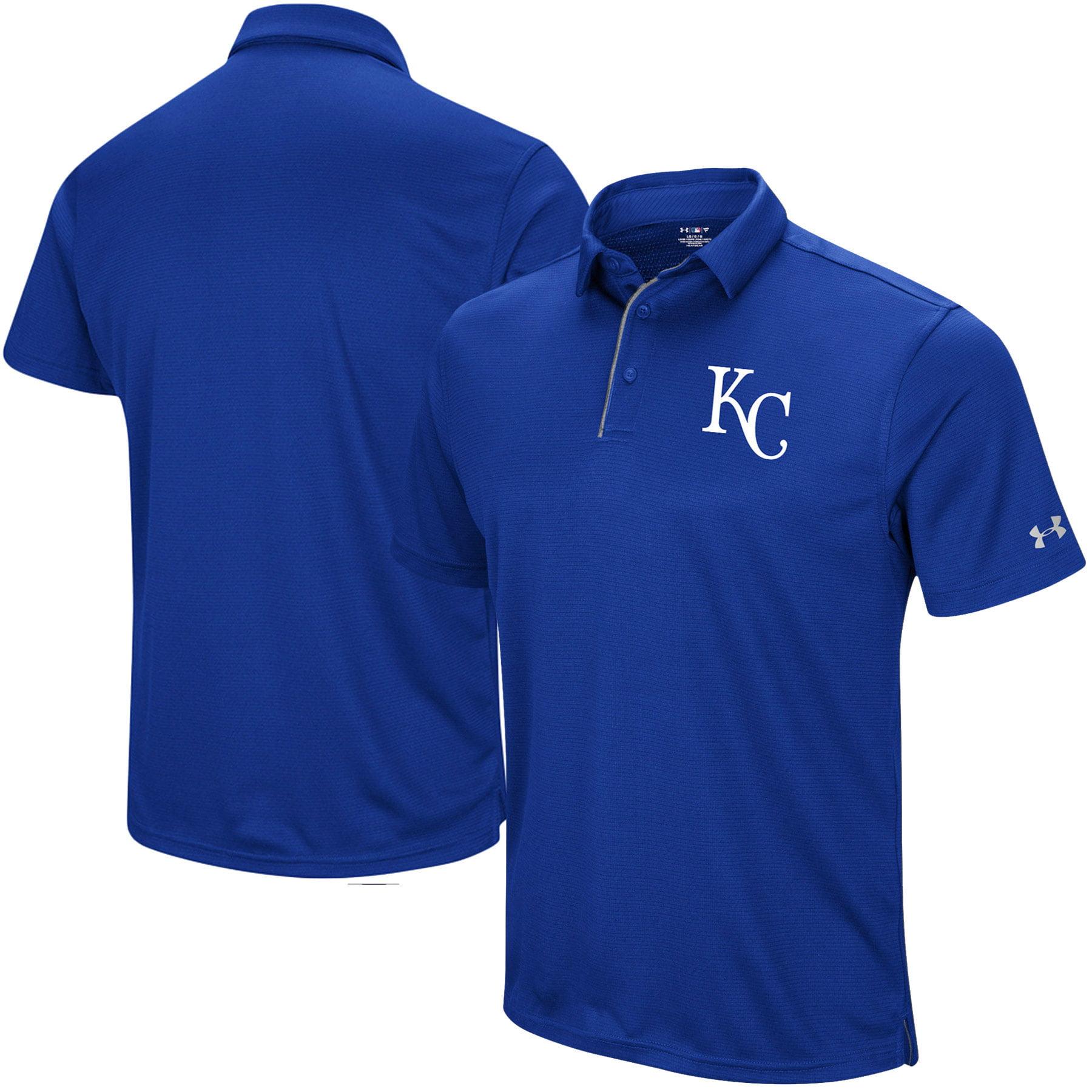 Kansas City Royals Under Armour UA Tech Left Chest Polo - Royal