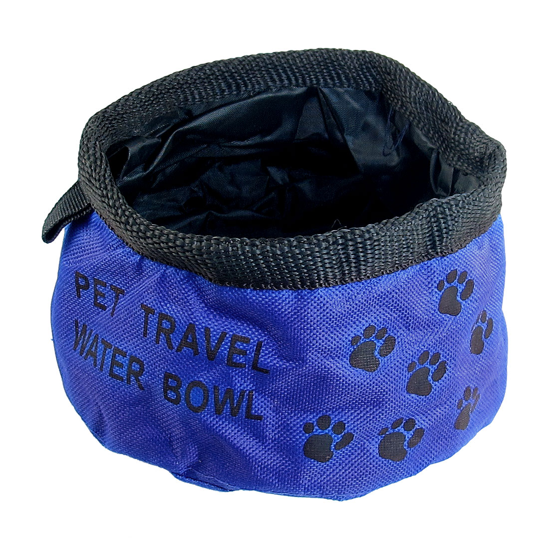 Unique Bargains Blue Folding Pet Doggie Cat Picnic Traveling Food Water Bowl Dishes