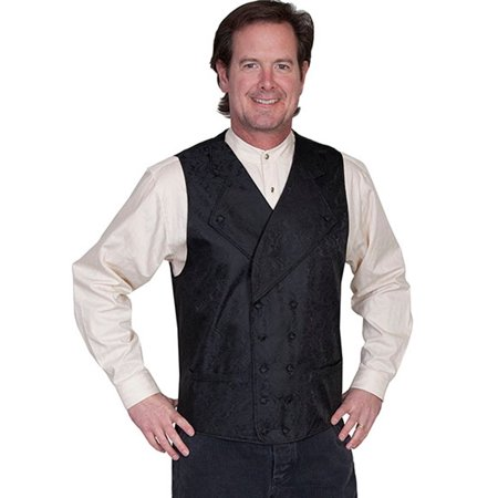 Scully Western Vest Mens Double Breasted Scroll Paisley RW227BX](Western Vests)