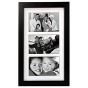3 Opening 4x6 COLLAGE FRAME LINEAR WALL - Matted Black