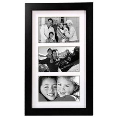 3 Opening 4x6 COLLAGE FRAME LINEAR WALL - Matted Black - Walmart.com
