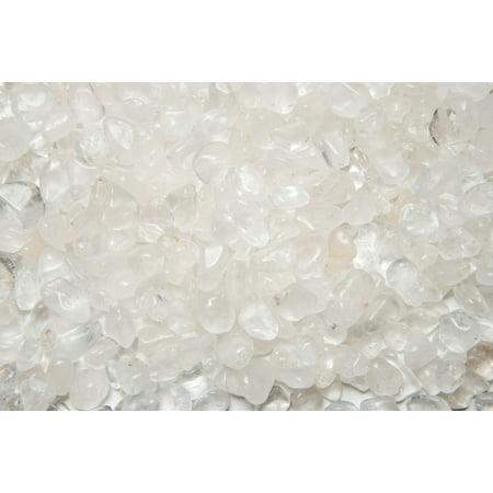 Fantasia Crystal Vault: 3 lb High Grade Crystal Quartz Tumbled Stones - XSmall - 0.5
