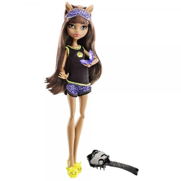 Mattel Clawdeen Wolf Monster High Dead Tired Sleepover Dolls