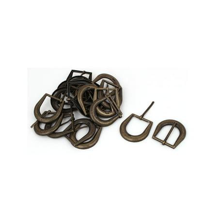 - Leather Belt Iron Vintage Style Single Pin Buckle Bronze Tone 20pcs