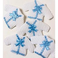 Baby Shower Baby Blue and White Baby Boy Clothes Favors Souvenirs Keepsake 12 Ct