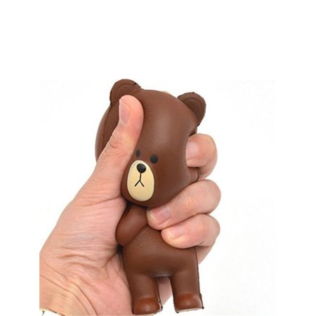 Jumbo Slow Rising Scented Soft Squishy Brown Bear Toys Squeeze Kids Collection Bear Lambskin Soft Toy