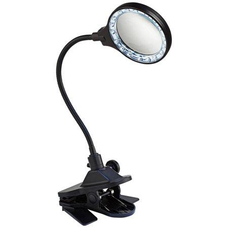 Pro Track LED Magnifier Gooseneck Clip - Plus Fluorescent Magnifier